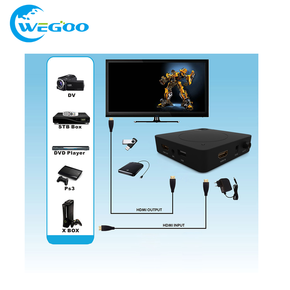 ФОТО YK918H HDCP HDD Player Video Capture Recorder Box 1080P Game Capture HDMI  With HDMI Capture DC5V 2A  for XBOX PS3 PS4  tv box