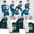 HEPIYPEI K-POP KPOP BTS Bangtan niños 2016 Álbum de Festa Chaqueta de Algodón Ropa de Abrigo Chaqueta del Uniforme del Béisbol de Manga Larga JK301