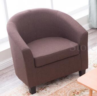 Европейский тканевая одноместная Софа стул интернет кафе кофе небольшой диван гостиничная комната кабинет компьютерный диван стул - Цвет: VIP 22