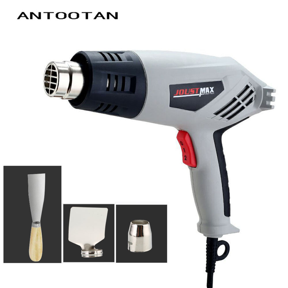 220V 2000W Industrial Electric Hot Air Gun EU Stepless Thermoregulator Heat Gun Plastic Torch for Car Hair Dryer Tools plastic welding torch hot air gun gj hq7 700w 220v thermostat hot air blower heat gun heater soldering for car bumper heat gun