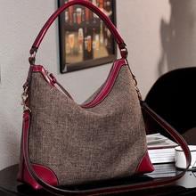 BARHEE Designer Echte echtem Leder Frauen Handtasche Hobo Umhängetaschen Leinen Umhängetasche Rindsleder Hohe Qualität