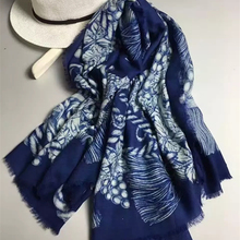 New Women Cashmere Scarf 55″ 140cm Leaf Pattern Novelty Shawl Hot Sale Chinese Style Keep Warm High Quality BY168306