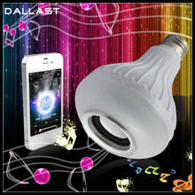 LED Lamp Wireless Bluetooth speaker Smart RGB Bulb E27 Colorful music playing Lights IR remote Control Speaker 5W DALLAST