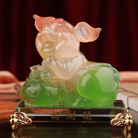 1PCS Gift art workshop 12 Zodiac pig ornaments birthday gifts pig lucky creative home decorations creative ornaments LU702249