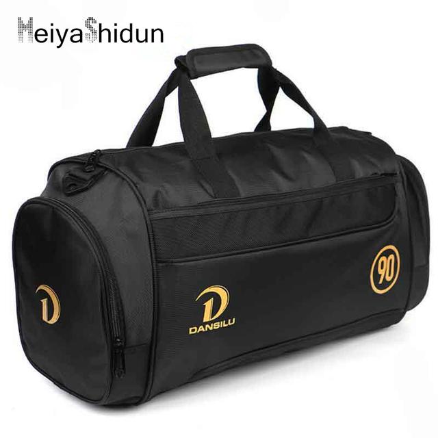 MeiyaShidun Nova Marca de Alta Qualidade À Prova D' Água Para Fora Dos Homens bagagem Sacos de viagem Duffle Bag Bolsas de Viagem Dobrável para as mulheres bolsa Preta
