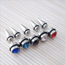 Vintage Piercing Tragus For Men Punk Style Fake Piercing Plug Septum Earring For Woman 316L Stainless Steel Tunnels Jewelry