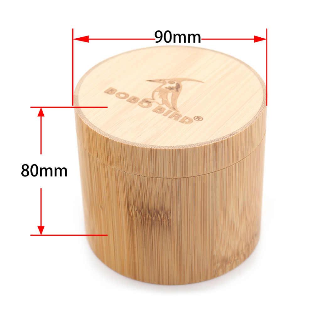 BOBO pájaro relojes caja de bambú relojes estuches regalos de madera cajas redondas cajas de joyería regalo personalizado Dropshipping