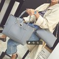 Dos piezas de La Manera nuevos bolsos de Alta calidad de cuero de LA PU Mujeres bolso Simple bolso retro hombro portátil de Gran capacidad Femenina bolsa