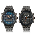 Hot! Men's Cool Fashion LED Wristwatch Steel Band Double Display Watch