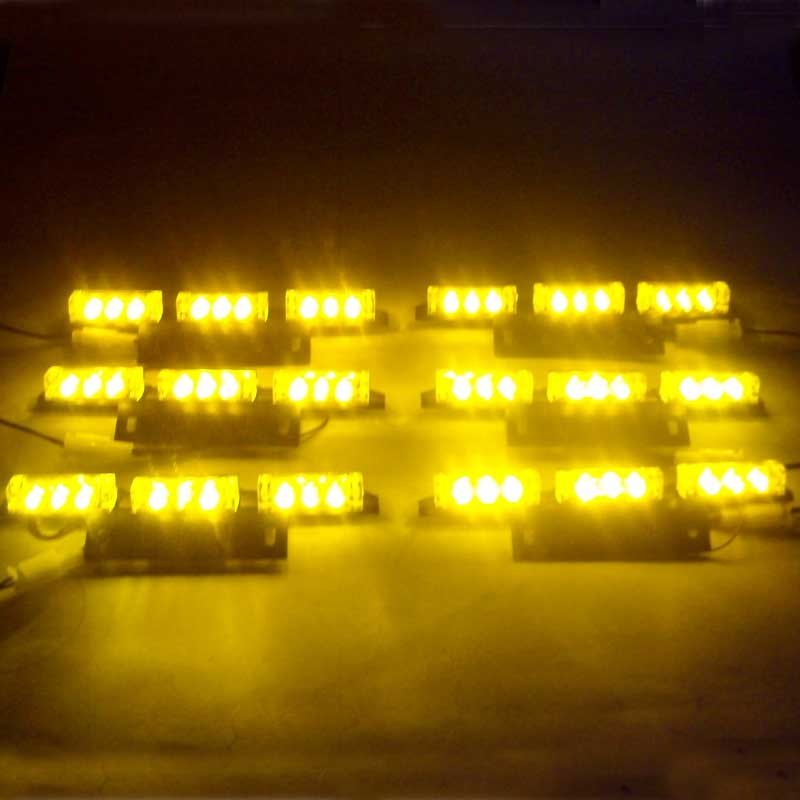 Car Wholesale  New In Retail Box 6x9 54 LED Flashing Police  & Truck Strobe Light A Eergency strobe Red Blue White Green Amber