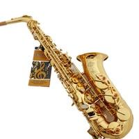 French Selmer 802 E Flat Alto Saxophone Brand Professional Electrophoresis Gold Saxe Musical Instrument Super Action