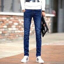 ec961de29e Moda hombres pantalones vaqueros de estiramiento azul oscuro Skinny Jeans  para hombres Casual Slim Fit Denim Pantalones estilo c.