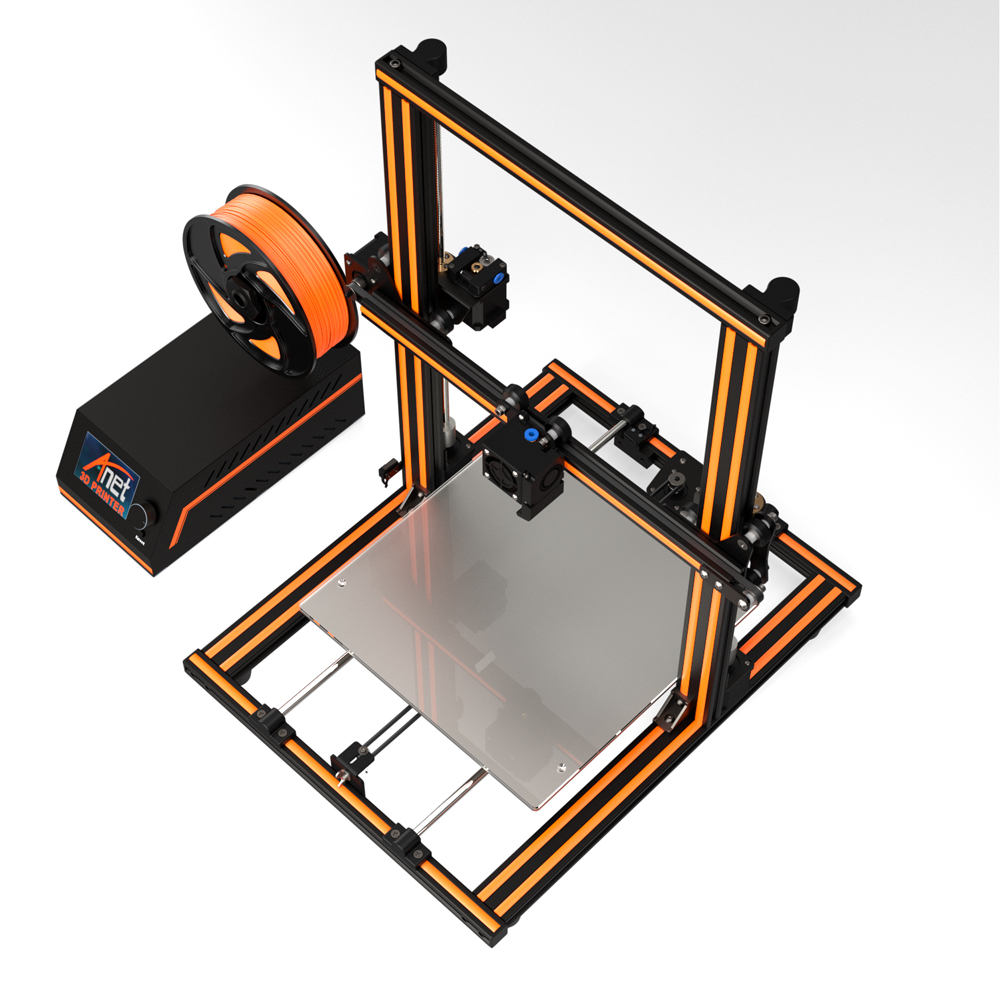 Double Y-axis Rod is More Stable- Large Print Size 300mm x 300mm Automatic Loading and Unloading Filament Anet E16 3D Printer All Metal Frame Double T Lead Screw
