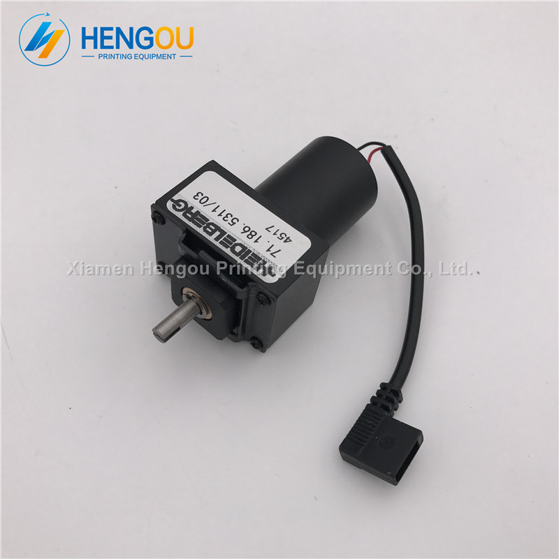 2 Pieces new Heidelberg ink key motor 71.186.5311 Heidelberg SM102 CD102 machine parts 5 pieces heidelberg parts 98 184 1051 heidelberg valve 2625484 for heidelberg cd102 sm102 mo machine parts