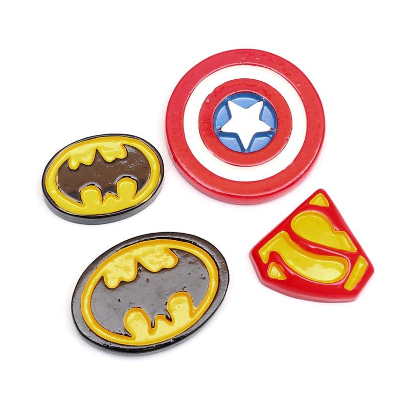 3 x Superman Logo Flatback Resin Embellishment Crafts Cabochon Decoden