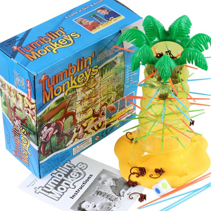 tumbin monkey Funny board game party Game hot Plastic Stick for children adults competition toy image