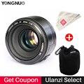 Buy YONGNUO YN50mm F1.8 Standard Prime Lens Large Aperture Auto Focus Lens for Canon EF Mount Rebel 650D 700D 7D DSLR Camera Lens