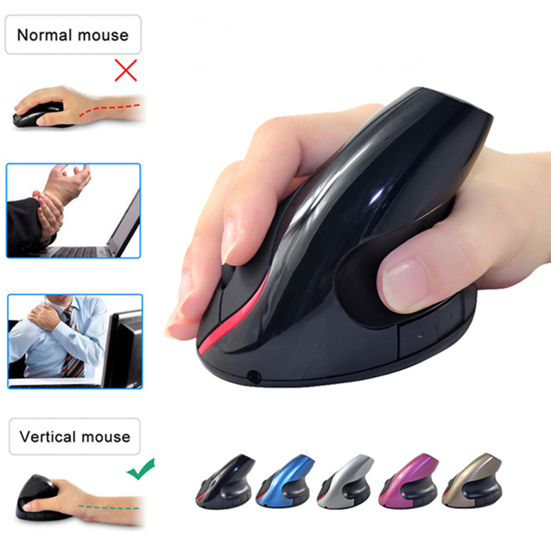 SUNGI S6 Mouse fără fir ergonomic Mouse vertical Mouse optic Mufă reîncărcabilă Built-in baterie pentru laptop Desktop
