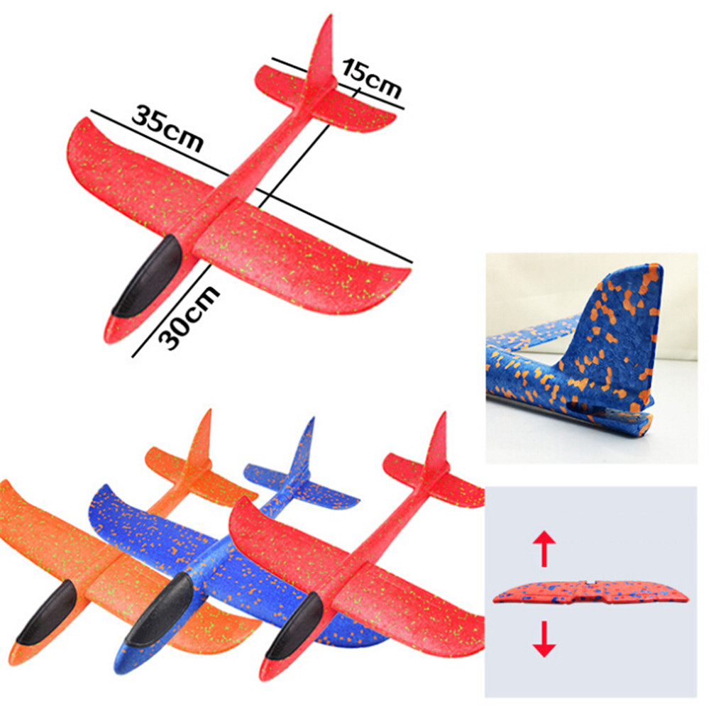 Outdoor Airplane Hand Launch Throwing Glider Aircraft Inertial Foam EVA Airplane Toy Plane Model Educational Toys Gift image