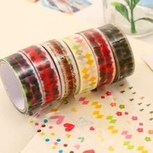 Colorful Cartoon Small Transparent Tape DIY Album Diary Decorative Stickers for Refrigerator