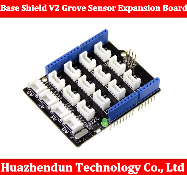 Free shipping Base Shield V2 Grove Sensor Expansion Board Compatible for Arduino Grove Sensor Shield bluetooth shield v1 2 expansion board for arduino works with official arduino boards