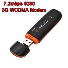 Desbloqueado 7.2 Mbps 6280 HSDPA 3g WCDMA módem usb Inalámbrico 3G Módem USB dongle USB clave WLAN Adaptador de Tarjeta de red