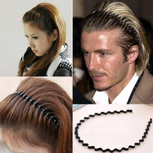 Tomtosh New 1 pcs. Men women unisex black wavy hair accessories head hoop sport bandage on his head Hairband styling tools