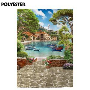 Image 4 - Allenjoy paysage photographie toile de fond venise été lac navire pierre fleur photo arrière plan studio photocall photophone vue
