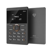 Neue ankunft ultra thin aiek/aeku e1 minihandy karte telefon student freigesetzter handy tasche phone low radiation multi sprache