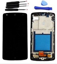For LG Google Nexus 5 D820 D821 LCD Assembly Black LCD Display +Touch Digitizer Frame BezelReplacement + Fast Shipping in stock!