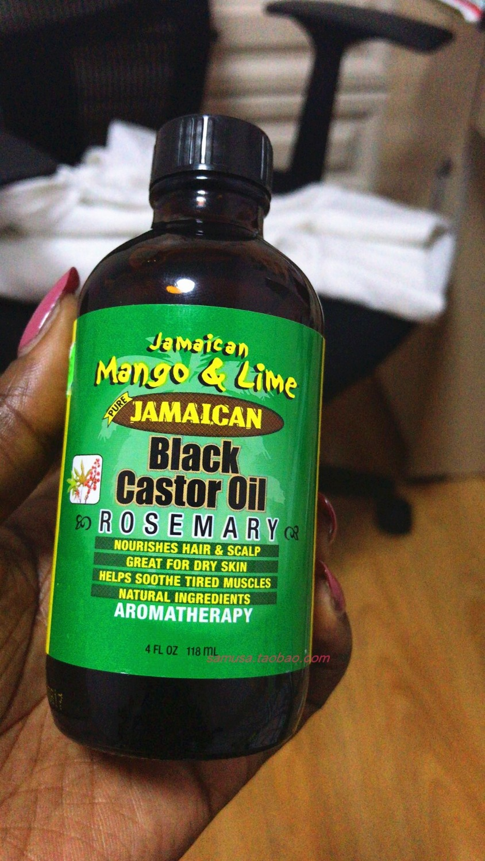 Jamaican Mango & Lime Black Castor Oil-Rosemary / 4oz