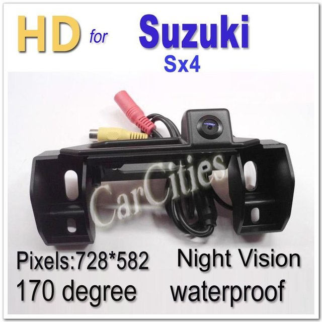 136 HD CAR camera170 degree for Suzuki Sx4 Waterproof Shockproof Night version car camera Size:140*44*72.3mm Drop Shipping