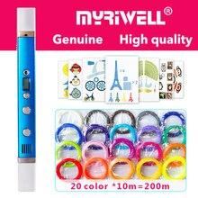 Myriwell 3d caneta 3d canetas, display LED, o Carregamento por USB, 3 d modelo pen3d impressão caneta Melhor Presente para Kidspen 3d Smart3d caneta impressão 3 d