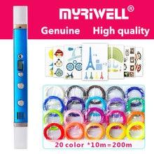 Myriwell 3d długopis 3d długopisy, wyświetlacz LED, kabel USB do ładowania, 3 d pen3d model Smart3d drukowanie długopis najlepszy prezent dla Kidspen 3d długopis 3 d