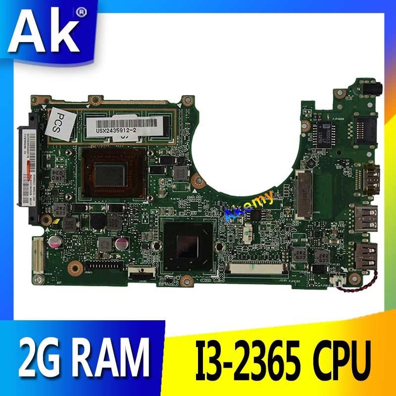AK X202E Laptop motherboard for ASUS X202E X201E S200E X201EP Test original mainboard 2G RAM I3