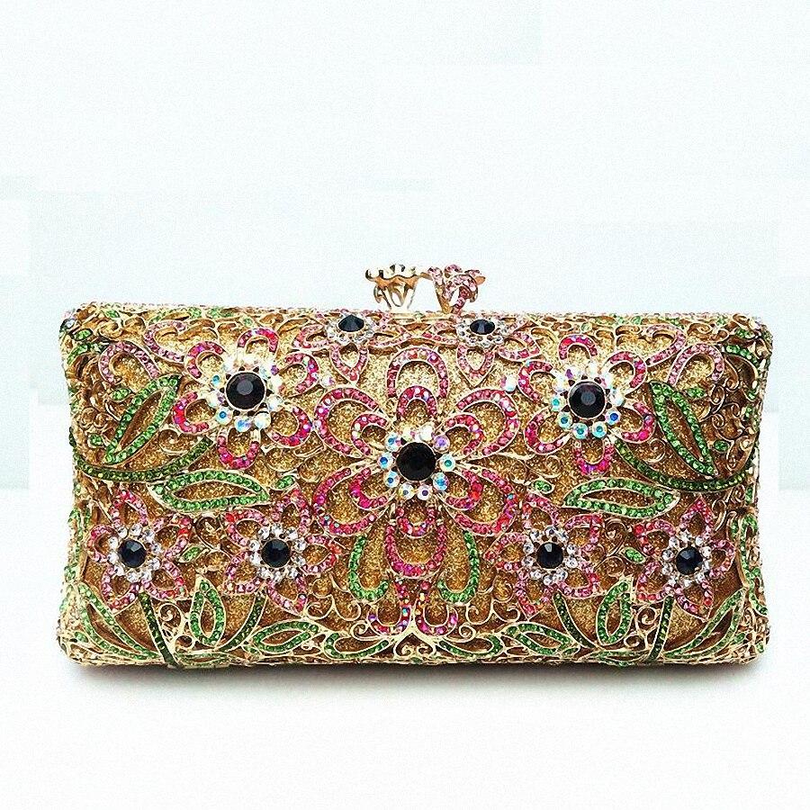 ФОТО ForUForM 2016 Evening Clutch Bag for Women Rhinestone Crystal Clutch Evening Purse China Handmade Bridal Purse LI-1578