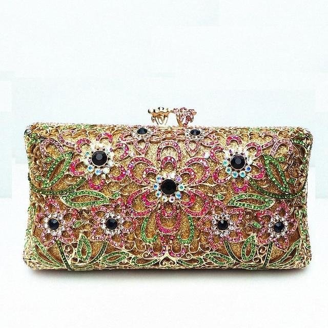 ForUForM 2016 Evening Clutch Bag for Women Rhinestone Crystal Clutch Evening Purse China Handmade Bridal Purse LI-1578