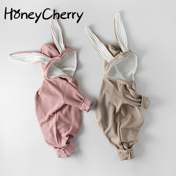 Autumn Girls Rompers Baby Children's Clothing Baby Rabbits Ears Long Sleeves  Jumpsuit  Newborn Winter Clothes yierying baby clothing autumn and winter baby rompers long sleeves cotton hooded infant clothes cartoon newborn jumpsuits