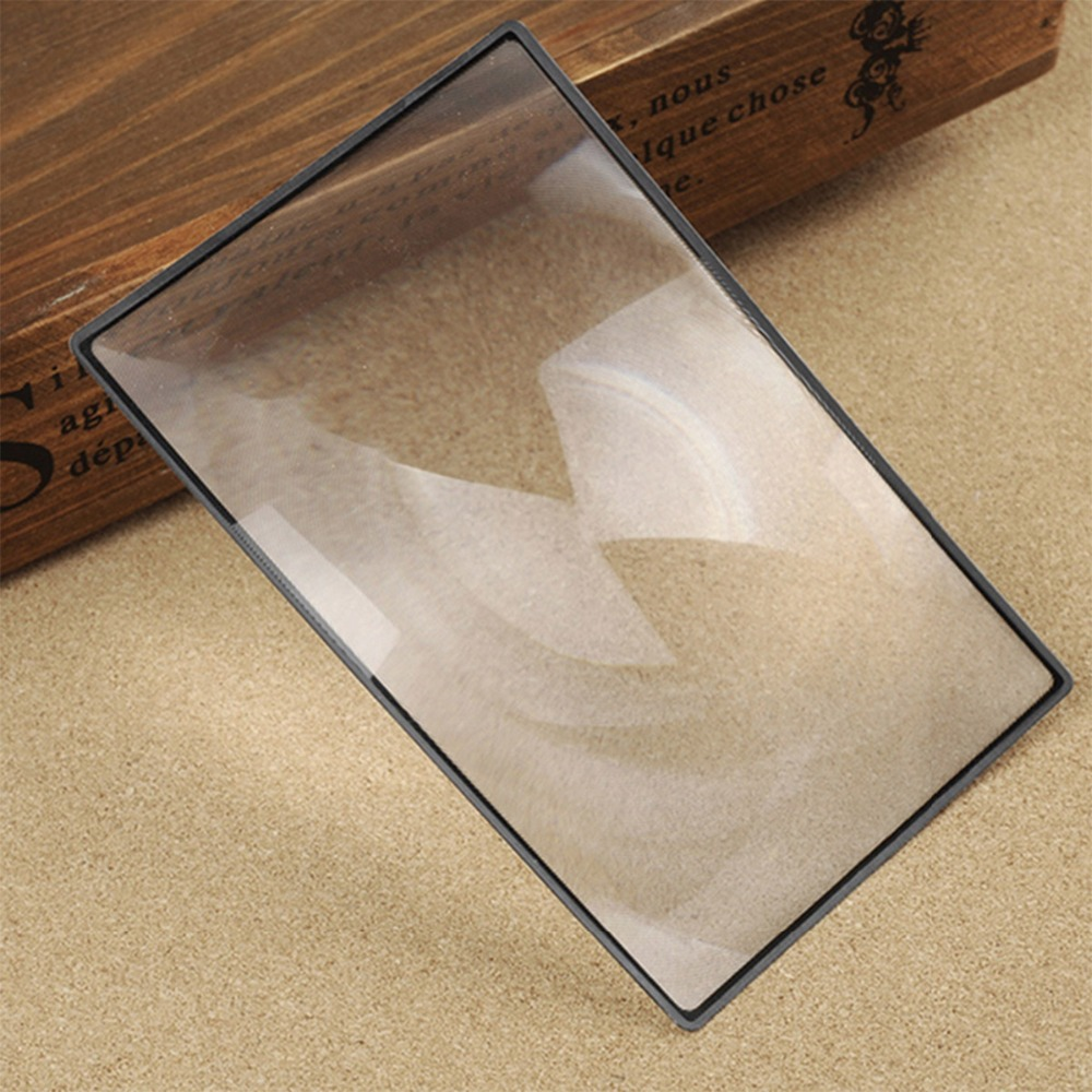 Page size 180X120mm A5 Flat PVC Magnifier Sheet X3 Book Page Magnification For Reading Restaurant Menus Flat Design magnifying
