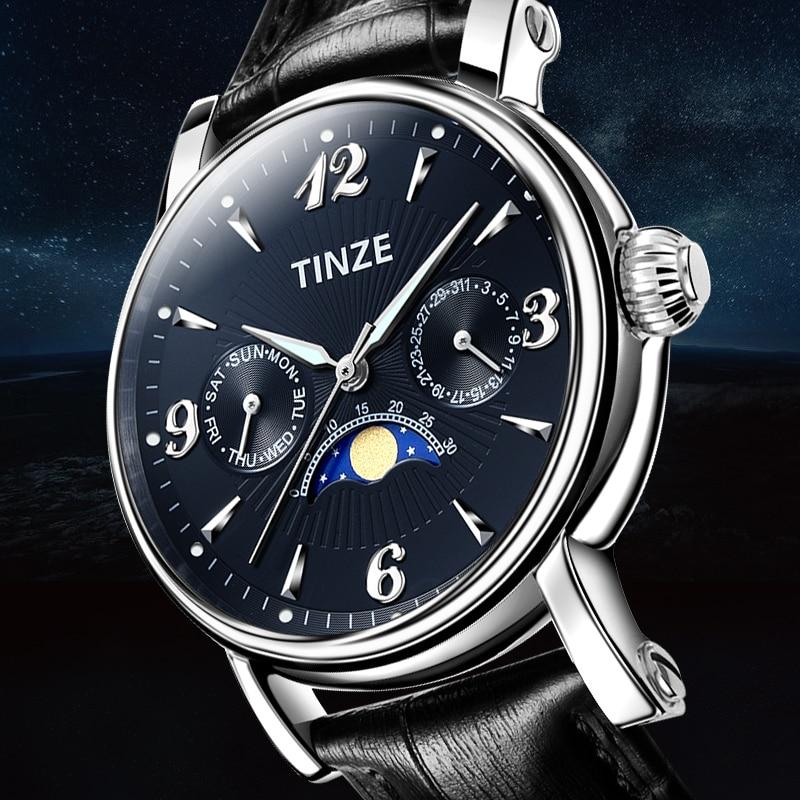 montre homme marque de luxe montres hommes luxes moon phase week calendar men watch business kol