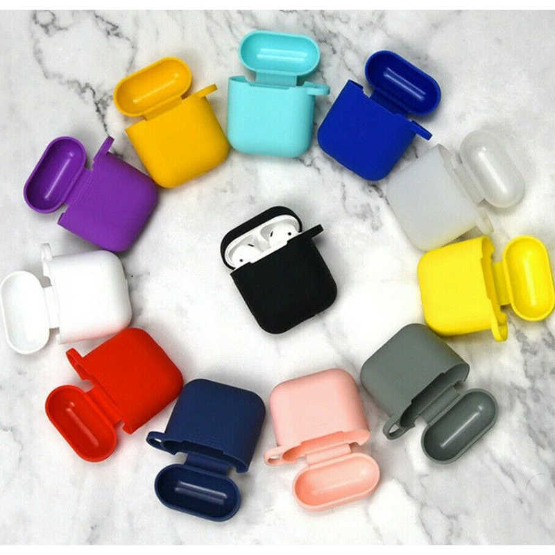 Soft Silicone Case For Apple Airpods Protector Airpod Case Cover Cute Luxury Funda Bluetooth Earphone Pouch Accessories Air Pods