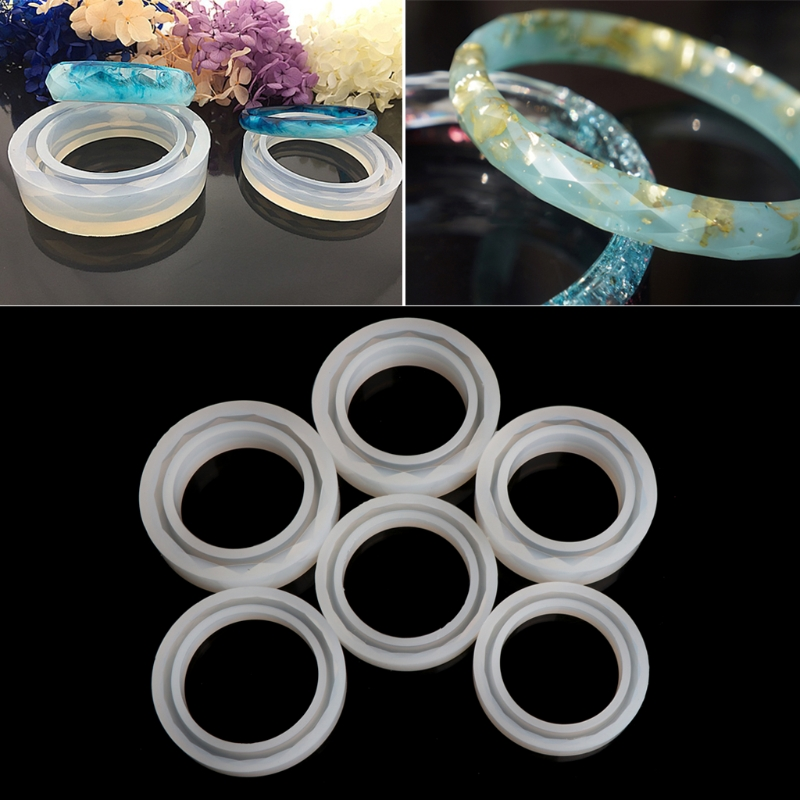 Round Silicone Mold Resin Bracelet Bangle For DIY Jewelry Casting Mould Tools