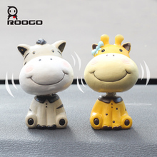 ROOGO home decoration accessories animal resin figurine blue red yellow white vintage decor birthday party decorations kids