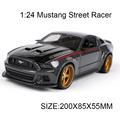 1:24 Diecast Model Car Mustang Street Racer Alloy Vehicle Car Model Alloy Model Gift Kids Toys simulation model For Collection