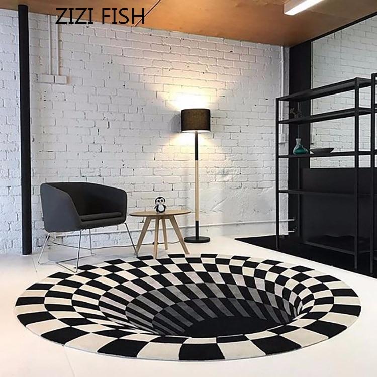 Moderne concis acrylique grand tapis pour salon chambre tapis noir piège conception chambre mode personnalisé tapis ajustement chambre tapis
