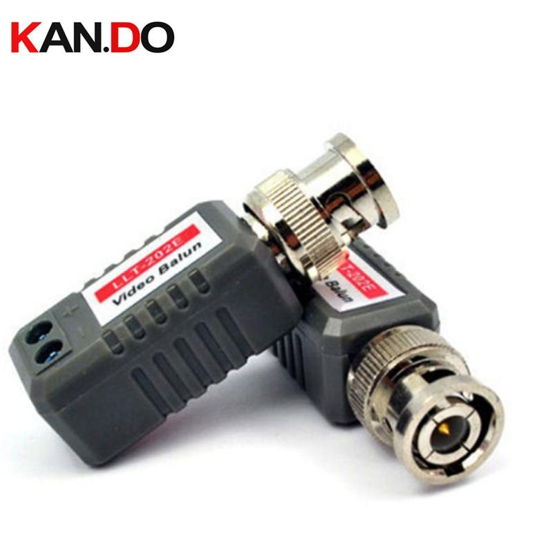 1 Pair 1 CH UTP Passive Video Balun BNC-M CCTV Video Transceiver cctv balun BNC connector 8pairs bnc to tj45 power video balun