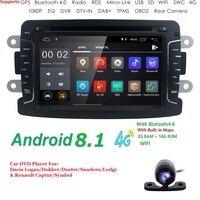 Android8.1 4G 2GRAM Car dvd player radio audio for RENAULT DUSTER Dacia LADA Captur Logan 2 Duster GPS Navigation 4G WIFI BT DAB