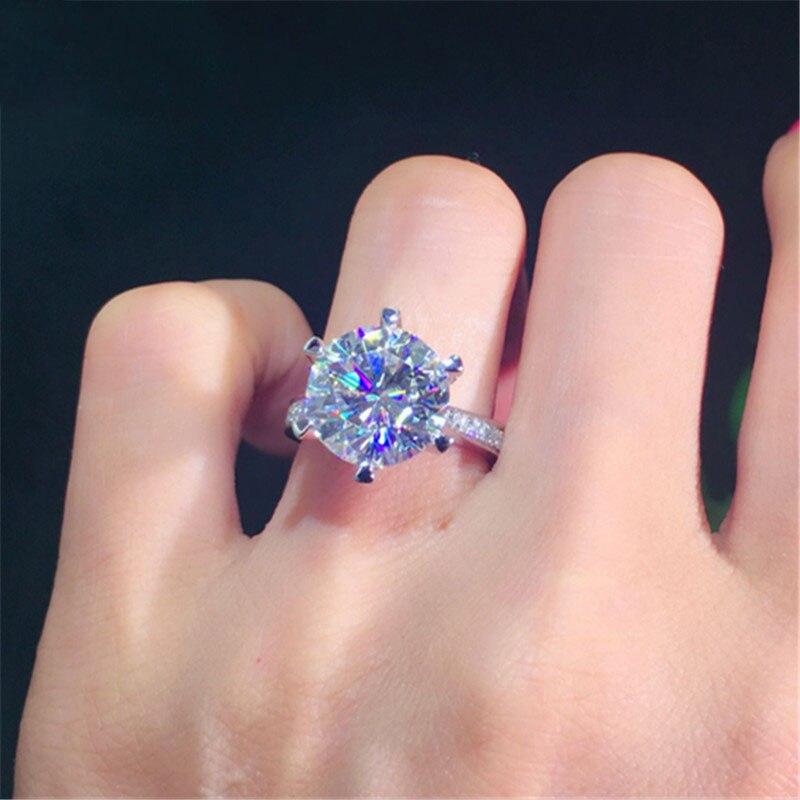 100% 18K 750Au Gold Moissanite Diamant Ring D farbe VVS Mit nationalen zertifikat MO 00101-in Ringe aus Schmuck und Accessoires bei  Gruppe 3