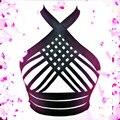 2017 новая мода сексуальное женское белье бюст связывание бюстгальтер пастель гот женский сетки подвязки готический эластичный bralette верхней розничной