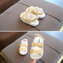 1 Pair Summer Kids LED Sandals Strappy Light-Up Boys Girls Children Luminous Shoes YJS Dropship